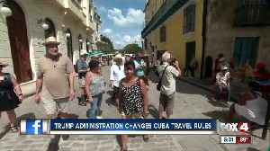U.S. imposes new Cuba travel restrictions [Video]