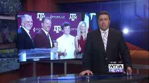 Bjork introduced at Texas A&M [Video]
