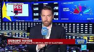 EU election night 2019 on France 24 part 4 [Video]