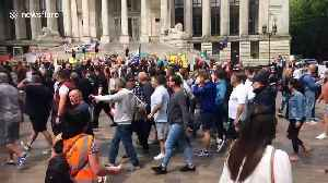 Trump supporters crash protest at Portsmouth's Guildhall Square [Video]