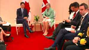 Theresa May meets Canadian PM Trudeau [Video]