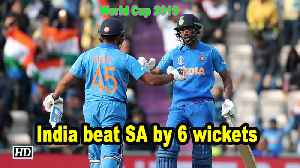 World Cup 2019 | India beat SA by 6 wickets [Video]