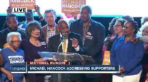 Denver mayoral runoff election - Michael Hancock declares victory [Video]