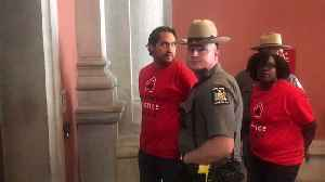 Housing Protesters Arrested at New York State Capitol Building [Video]