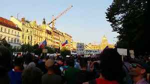 Protesters in Wenceslas Square Demand Prime Minister's Resignation [Video]