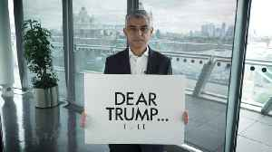 Mayor Sadiq Khan Challenges Donald Trump Upon His Arrival To The UK For State Visit [Video]