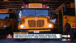 Lee County School Board extends hiring bus drivers without high school diploma [Video]