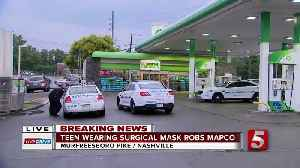 Masked juvenile asks for candy, robs Mapco gas station, police say [Video]