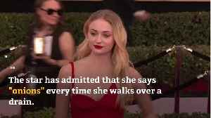 Sophie Turner has to say 'onions' whenever she walks over a drain [Video]