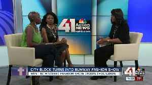 City block turns into runway fashion show [Video]