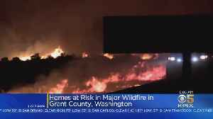 Wildfire Threatens Homes In Washington State [Video]