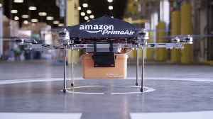 News video: Amazon's New Drone To Deliver Packages 'Within Months'