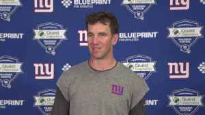New York Giants quarterback Eli Manning explains how Giants' offense will improve in second year under head coach Pat Shurmer [Video]