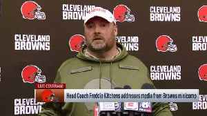 Cleveland Browns head coach Freddie Kitchens on wide receiver Odell Beckham Jr. learning Browns' offense: 'We just need a little [Video]