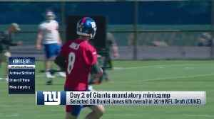 Former New York Giants offensive lineman Shaun O'Hara: Giants would be happy if quarterback Daniel Jones didn't play for 'two ye [Video]