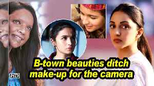 B-town beauties ditch make-up for the camera [Video]
