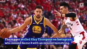 Drake Trolls Klay Thompson After Raptors Win NBA Finals Game 3 [Video]
