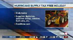 Thursday is last day for hurricane supplies tax holiday [Video]