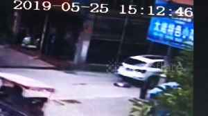 3-year-old boy luckily escapes death after car runs him over in eastern China [Video]