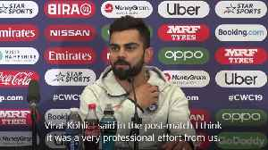 News video: Virat Kohli: We were 'professional' with victory over South Africa