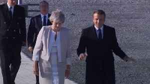 Theresa May and Emmanuel Macron attend D-Day memorial inauguration [Video]