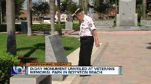New D-Day monument to be unveiled in Boynton's Veterans Memorial Park [Video]