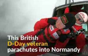 75 years after D-Day jump, British veterans parachute into Normandy [Video]