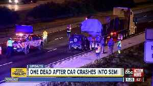 Plant City man killed after rear-ending semi on I-4 in Hillsborough County [Video]