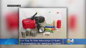Last Day To Take Advantage Of Sales Tax Exemption On Hurricane Supplies [Video]
