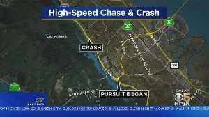 Man Arrested After High-Speed Chase, Rollover Crash On I-280 [Video]