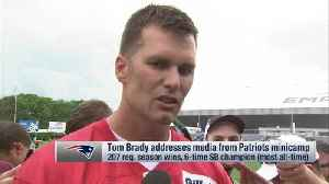 New England Patriots quarterback Tom Brady discusses how Patriots will move forward without tight end Rob Gronkowski [Video]