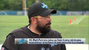 Detroit Lions head coach Matt Patricia discusses expectations for offense under Darrell Bevell [Video]