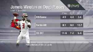 Next Gen Stats: Tampa Bay Buccaneers quarterback Jameis Winston's deep-passing numbers over the years [Video]
