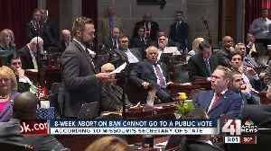 Effort to repeal Missouri 8-week abortion ban hits roadblock [Video]