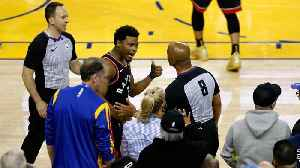 Warriors Part-Owner Mark Stevens Banned for One Year After Shoving Kyle Lowry [Video]