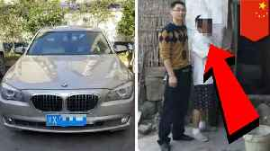 Chinese farmer pushing $300,000 BMW steals livestock for gas [Video]