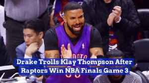 Drake Throws More Shade In NBA Finals Game 3 [Video]