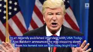 Alec Baldwin Says He's Done Impersonating Donald Trump [Video]