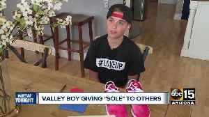 Valley child buying, sending shoes to Arizona foster children with uplifting messages [Video]