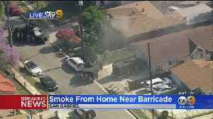 Smoke Seen Coming From Site Of Barricade Situation [Video]