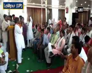 Hit government employees with shoes if they dont respect us says BJP MLA to party workers [Video]
