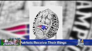 The Patriots Receive Their Super Bowl Rings [Video]
