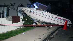 Pregnant Woman Hurt When Hit-And-Run Driver Sends Boat into Home [Video]