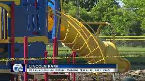 Playground equipment vandalized at Quandt Park [Video]