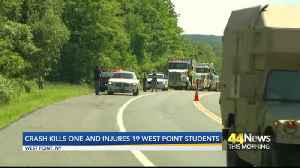 Crash kills one and injures 19 West Point Students [Video]