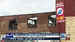 Four Alarm Fire Out At Mattress Warehouse in East Baltimore [Video]