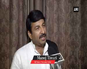 BJP is supporter of good schemes not AAPs false promises Manoj Tiwari [Video]