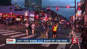 Part of CMA Fest rained out on Day 2 [Video]