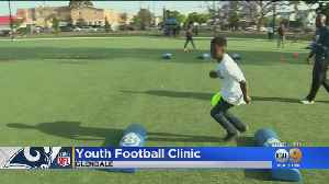 'Future Rams' Perform Football Drills With The Pros At Glendale Youth Clinic [Video]