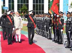 PM Modi receives Maldivian guard of honour on 1st foreign trip after poll win [Video]